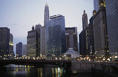 The Chicago River And Buildings Poster