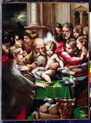 The Circumcision Poster by Francesco Mazzola Parmigianino