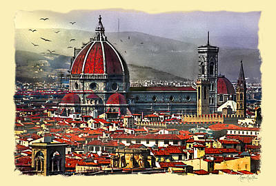 The City Of Florence Poster