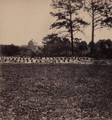 The Civil War, Union Prisoners Burying Poster by Everett