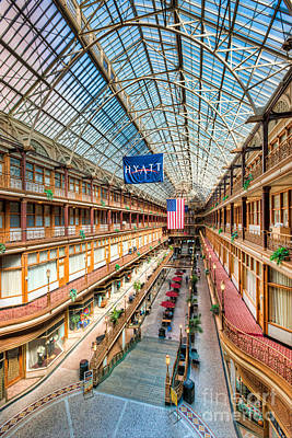 The Cleveland Arcade I Poster by Clarence Holmes