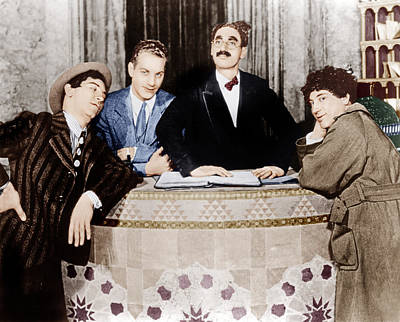 The Cocoanuts, From Left Chico Marx Poster by Everett