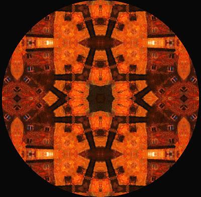 The Color Orange Mandala Abstract Poster by Georgiana Romanovna