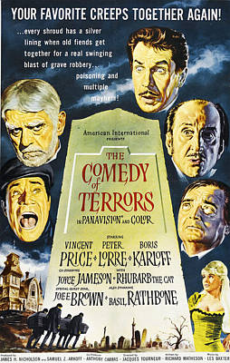 The Comedy Of Terrors, Clockwise Poster by Everett