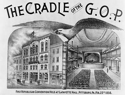 The Cradle Of The Gop Poster by Photo Researchers