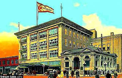 The Crescent Store In Spokane Wa In 1908 Poster by Dwight Goss