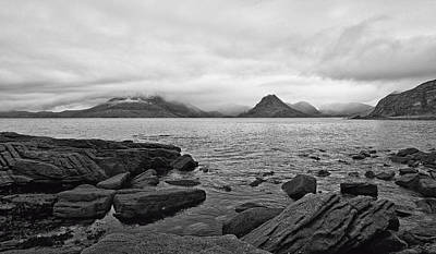 The Cuillin's In The Mist Poster by Chris Thaxter