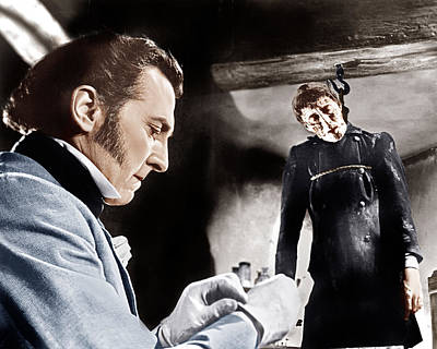 The Curse Of Frankenstein, From Left Poster by Everett
