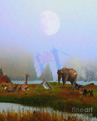 The Day After Armageddon At The San Francisco Zoo Poster by Wingsdomain Art and Photography