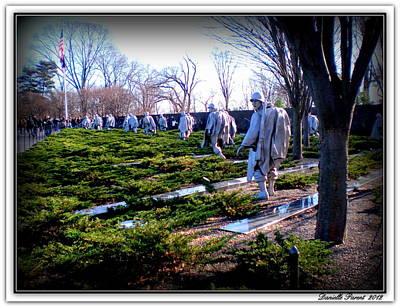 Poster featuring the photograph The Dc War Memorials Washington  D.c. by Danielle  Parent