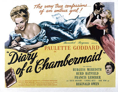 The Diary Of A Chambermaid, Paulette Poster by Everett