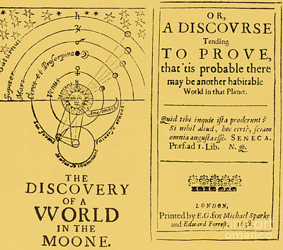 The Discovery Of A World In The Moone Poster by Science Source