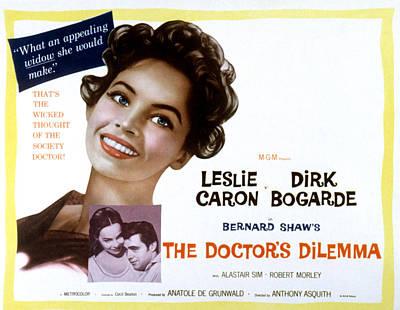 The Doctors Dilemma, Leslie Caron, Dirk Poster by Everett