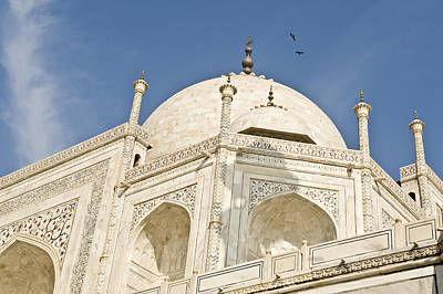 The Dome Of Taj Mahal In The Morning Poster by Lori Epstein