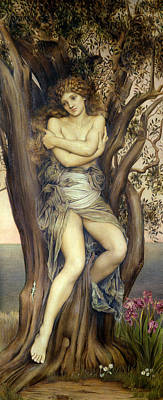 The Dryad Poster by Evelyn De Morgan
