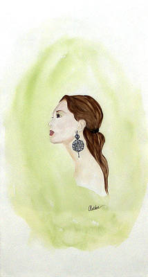 Poster featuring the painting The Earring by Alethea McKee