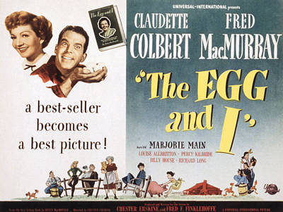 The Egg And I, Claudette Colbert, Fred Poster by Everett