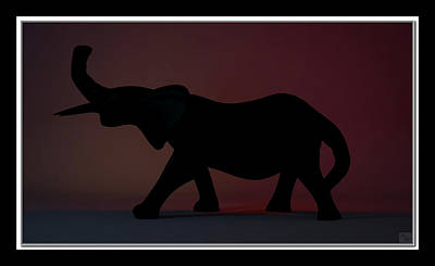 Poster featuring the digital art The Elephant... by Tim Fillingim