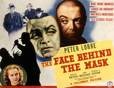 The Face Behind The Mask, Peter Lorre Poster