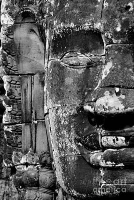 Poster featuring the photograph The Face Of Angkor by Nola Lee Kelsey