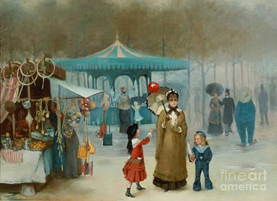 The Fairground  Poster by Henry Jones Thaddeus