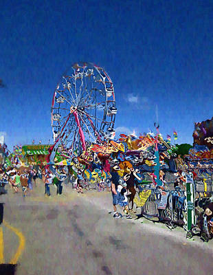 Poster featuring the photograph The Ferris Wheel At The Fair by Mario Carini
