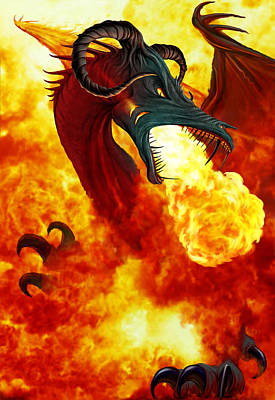 The Fire Dragon Poster by The Dragon Chronicles - Garry Wa