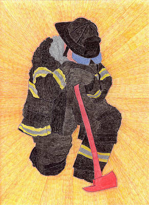 The Fireman Poster by Eric Forster