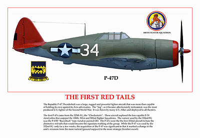The First  Red Tails Poster by Jerry Taliaferro