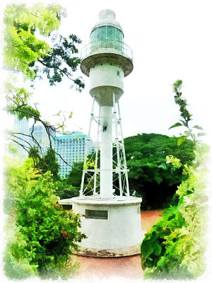 The Fort Canning Lighthouse Poster by Steve Taylor
