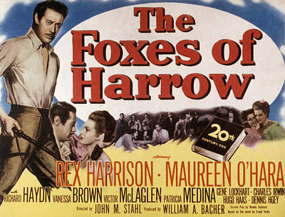 The Foxes Of Harrow, Rex Harrison Poster by Everett