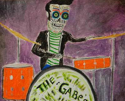 Poster featuring the painting The Gabes by Everette McMahan jr