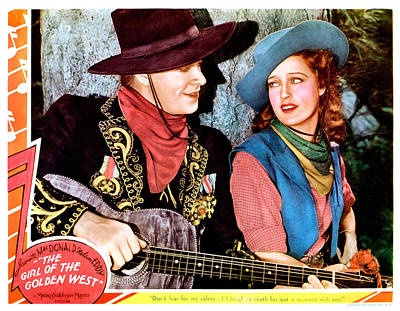 The Girl Of The Golden West, From Left Poster