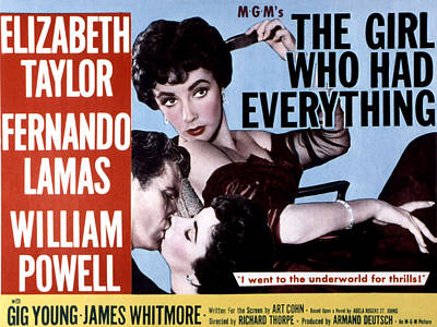The Girl Who Had Everything, Elizabeth Poster by Everett