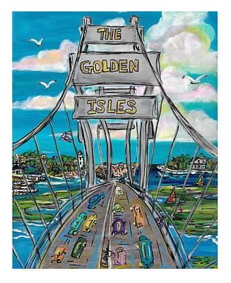 The Golden Isles Poster by Doralynn Lowe
