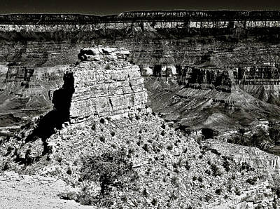 The Grand Canyon Bw Poster by Bob and Nadine Johnston