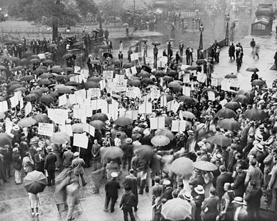 The Great Depression. A Crowd Poster
