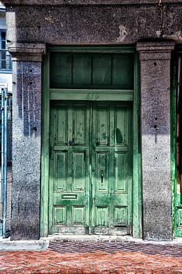 The Green Door In The French Quarter Poster by Bill Cannon