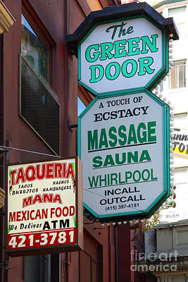 The Green Door San Francisco Poster by Wingsdomain Art and Photography