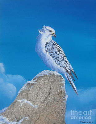 The Gyr Falcon Poster by Michael Allen