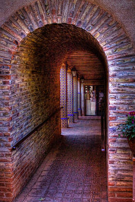 The Hallway At Tlaquepaque Poster by David Patterson
