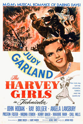 The Harvey Girls, Judy Garland, 1946 Poster