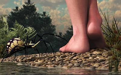 The Hazards Of Barefoot Hiking Poster