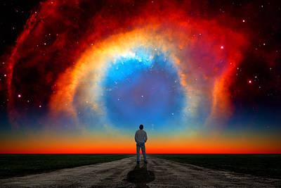 The Helix Nebula Poster by Larry Landolfi