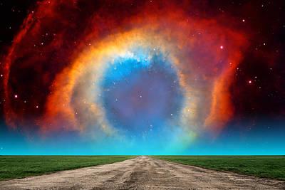 The Helix Nebula Road Poster by Larry Landolfi