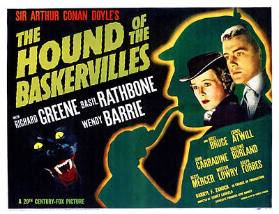 The Hound Of The Baskervilles, Basil Poster by Everett