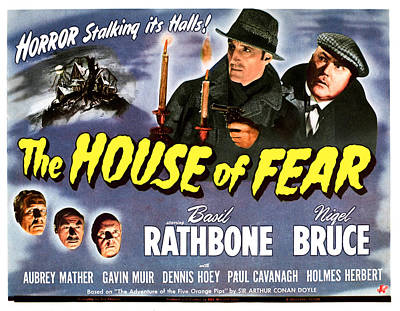 The House Of Fear, Aka Sherlock Holmes Poster by Everett