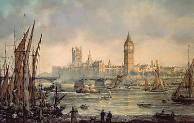 The Houses Of Parliament And Westminster Bridge Poster