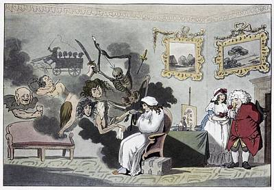 The Hypochondriac, Satirical Artwork Poster by