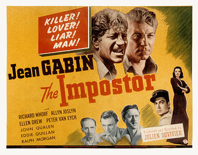 The Impostor, Jean Gabin, 1944 Poster